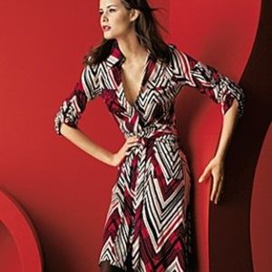 Diane von Furstenberg Utility Wrap Dress